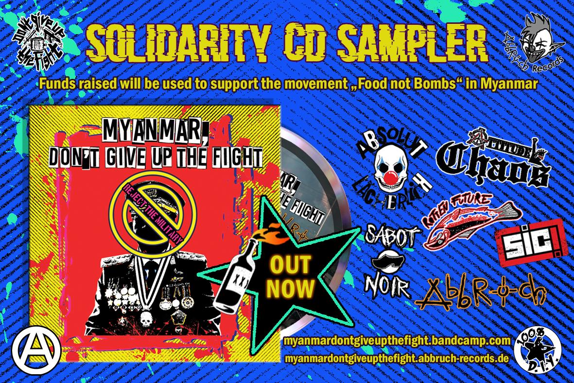 solidarity cd sampler punk for Food not bombs in Myanmar